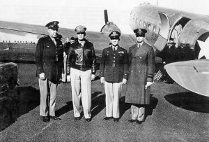 "General MacArthur arrives ""Somewhere in Australia"", 1942.  (Courtesy John.Curtin.edu.au)"